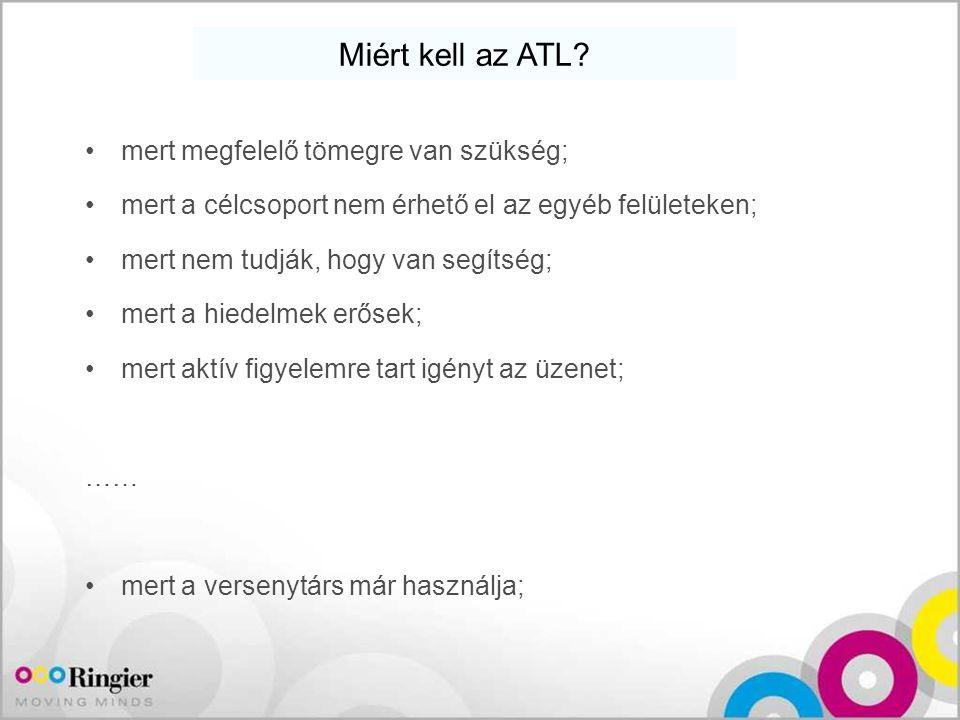 Miért kell az ATL mert megfelelő tömegre van szükség;