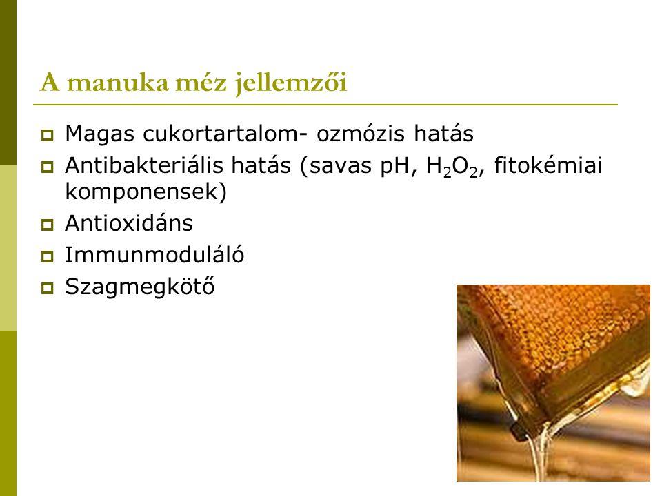 A manuka méz jellemzői Magas cukortartalom- ozmózis hatás