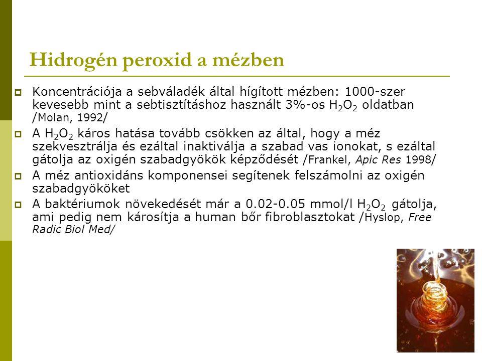 Hidrogén peroxid a mézben