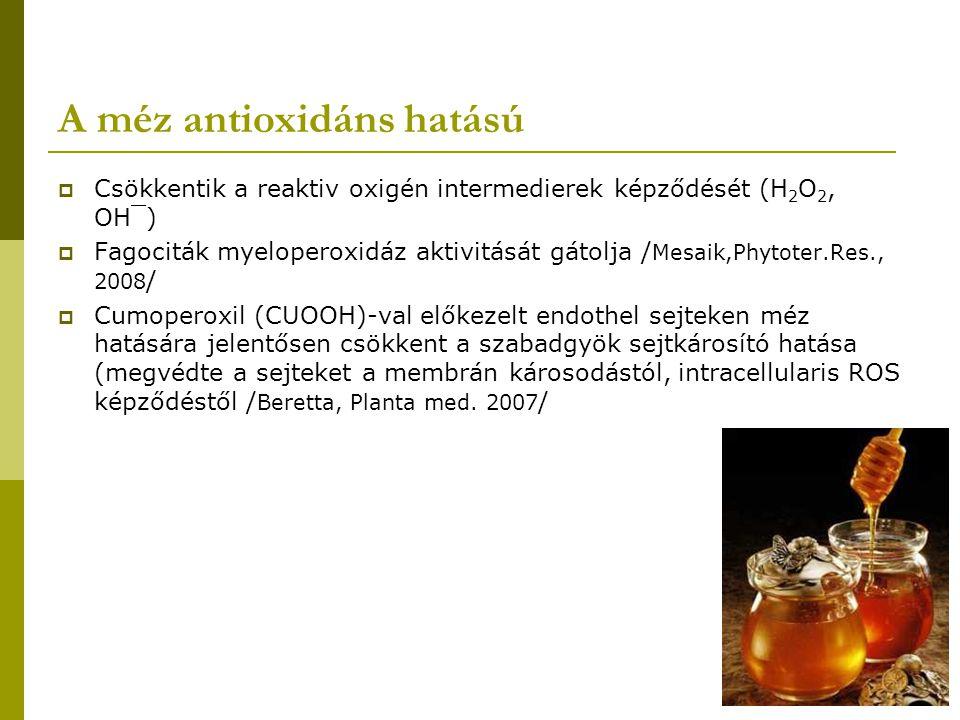 A méz antioxidáns hatású