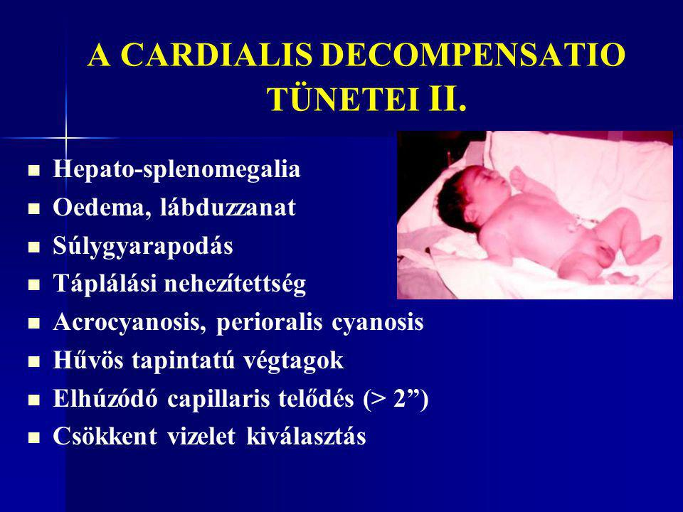 A CARDIALIS DECOMPENSATIO TÜNETEI II.