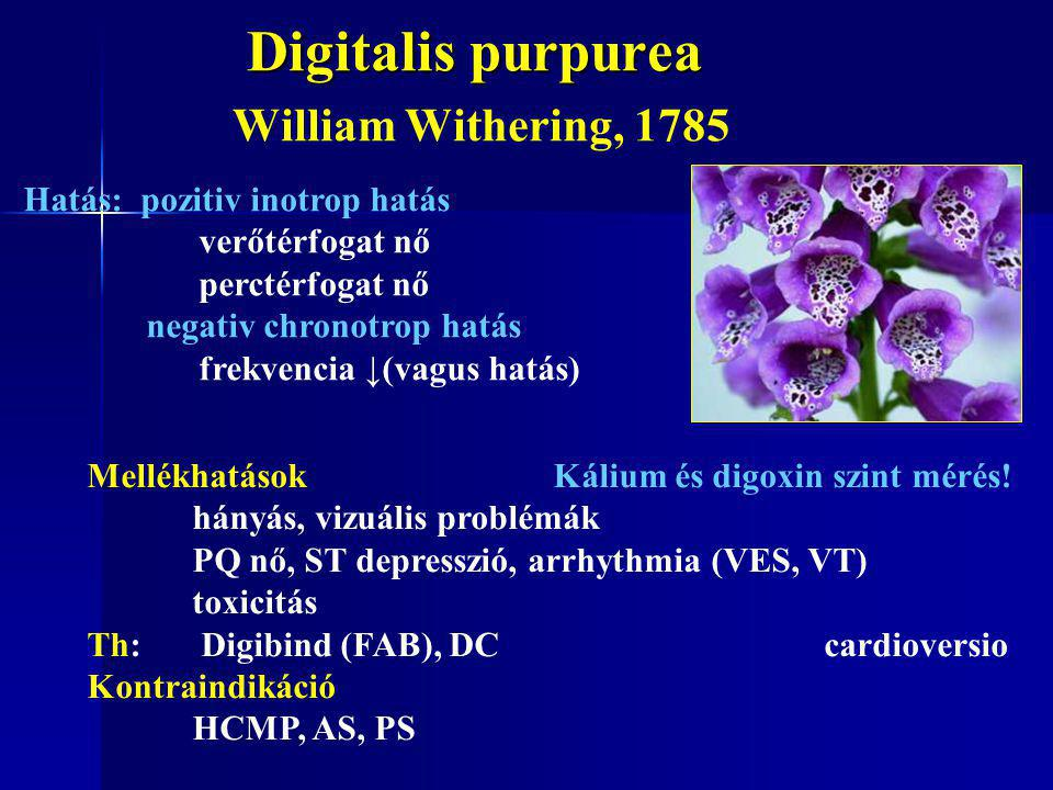 Digitalis purpurea William Withering, 1785