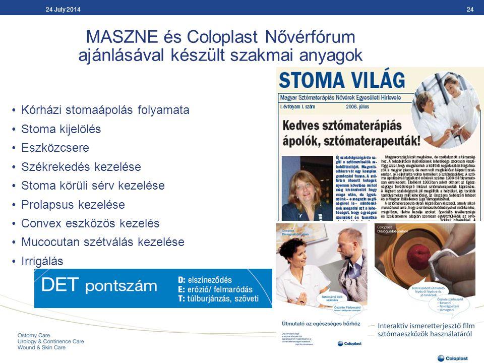 MASZNE és Coloplast Nővérfórum ajánlásával készült szakmai anyagok