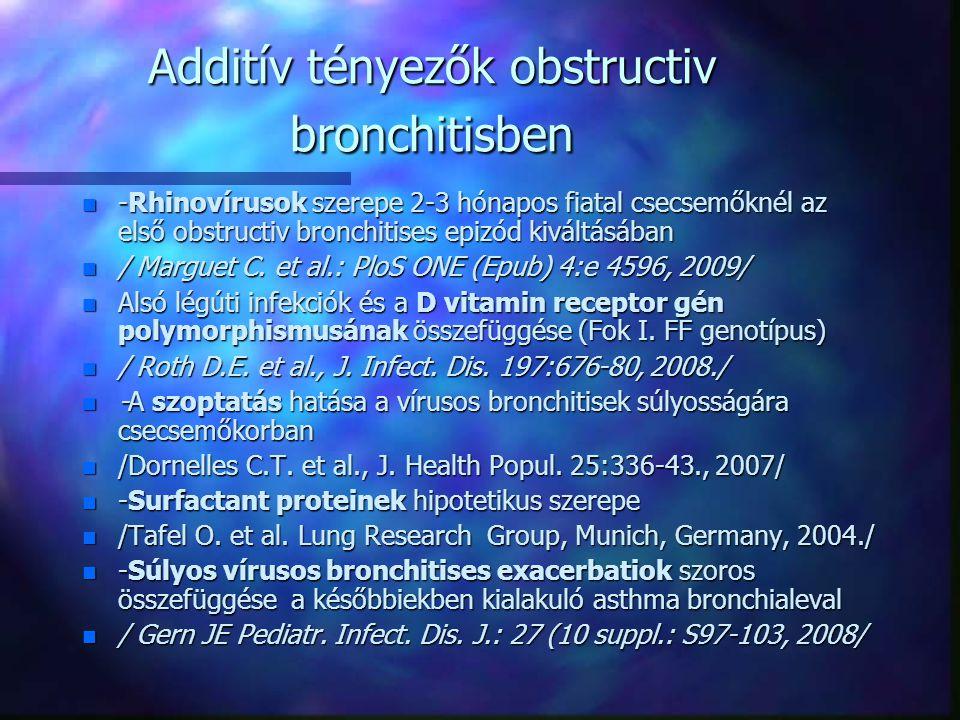 Additív tényezők obstructiv bronchitisben