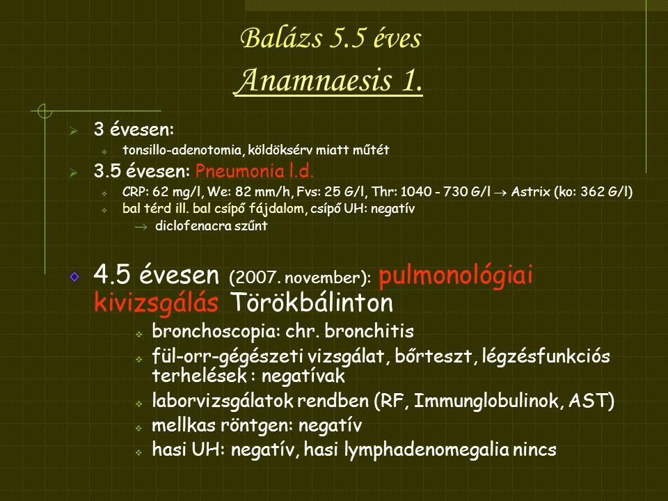 Balázs 5.5 éves Anamnaesis 1.