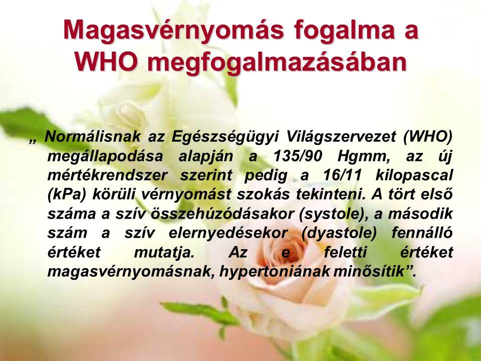 Magasvérnyomás fogalma a WHO megfogalmazásában