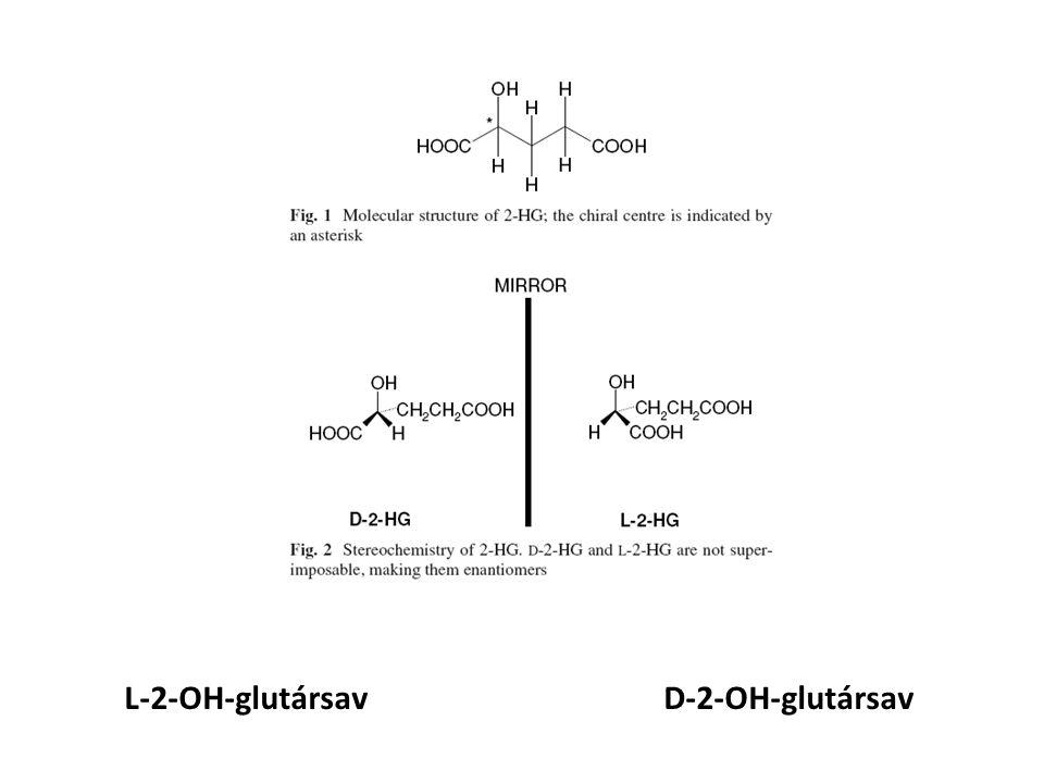 L-2-OH-glutársav D-2-OH-glutársav