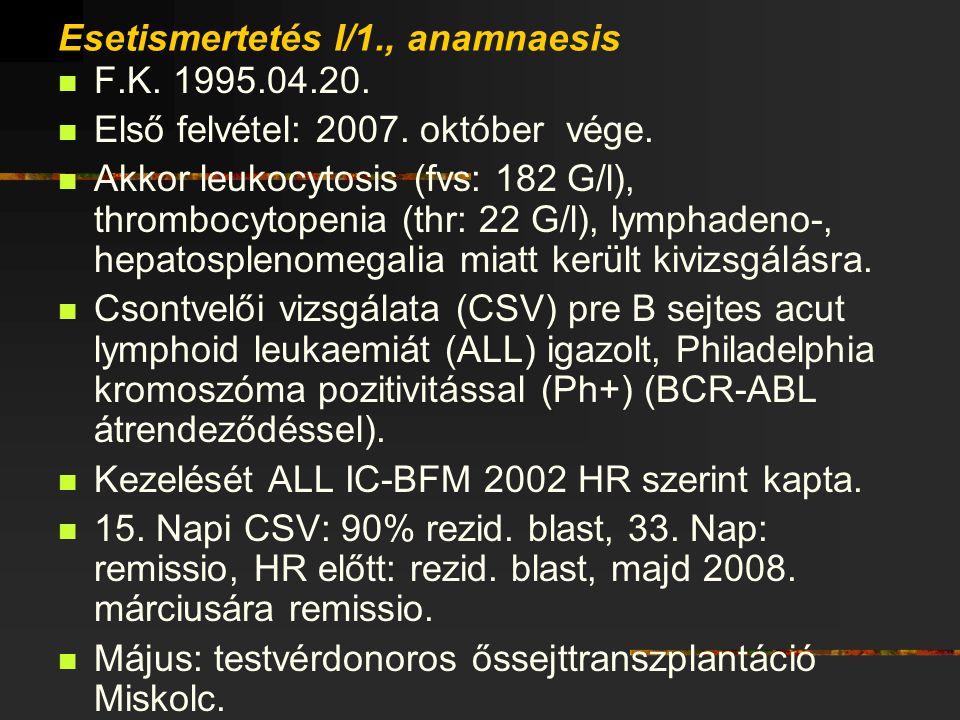 Esetismertetés I/1., anamnaesis