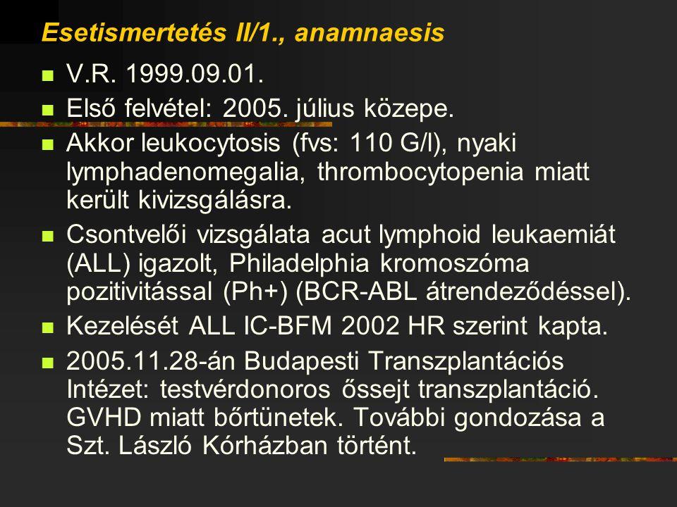 Esetismertetés II/1., anamnaesis