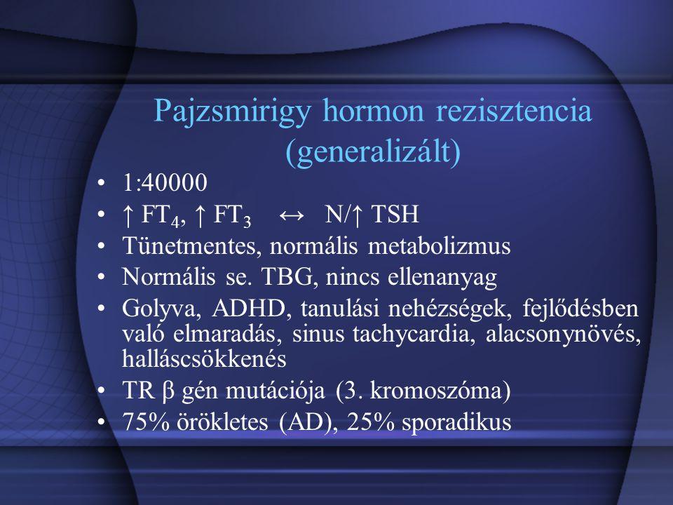 Pajzsmirigy hormon rezisztencia (generalizált)