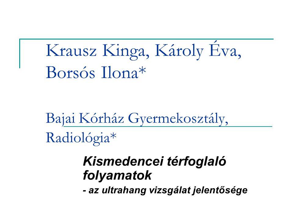 Kismedencei térfoglaló folyamatok - az ultrahang vizsgálat jelentősége