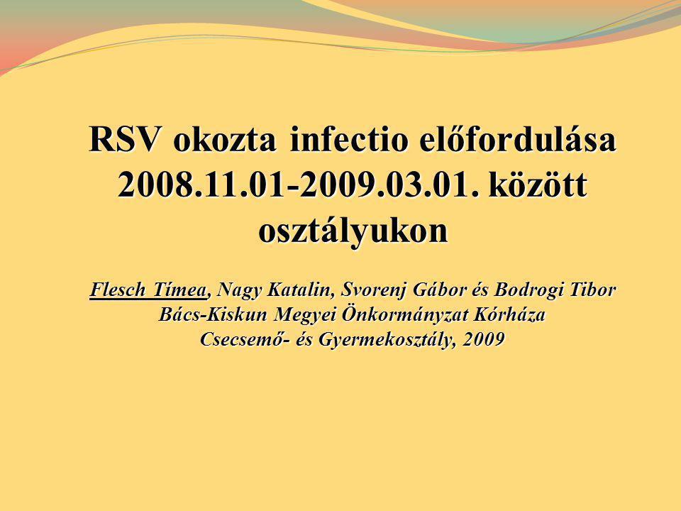 RSV okozta infectio előfordulása