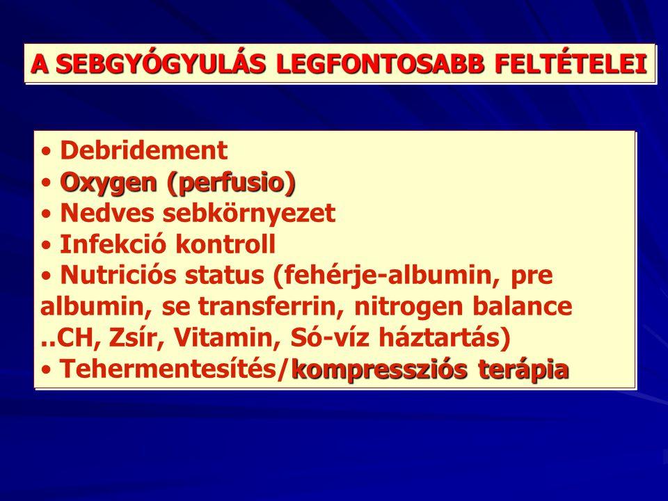 A SEBGYÓGYULÁS LEGFONTOSABB FELTÉTELEI