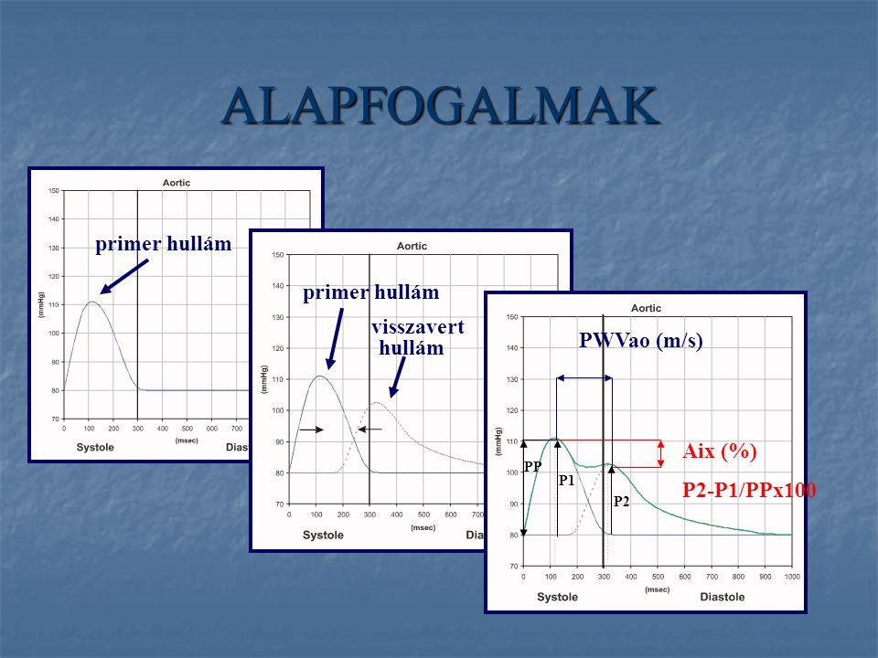 ALAPFOGALMAK primer hullám primer hullám visszavert PWVao (m/s) hullám