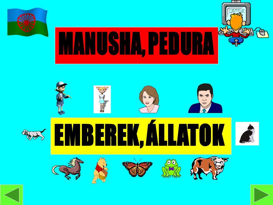 MANUSHA, PEDURA EMBEREK, ÁLLATOK