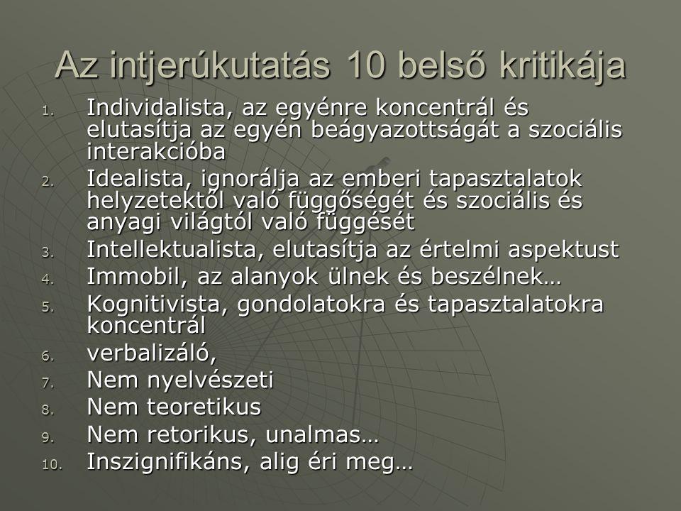 Az intjerúkutatás 10 belső kritikája