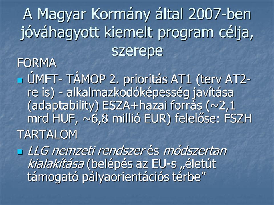 A Magyar Kormány által 2007-ben jóváhagyott kiemelt program célja, szerepe