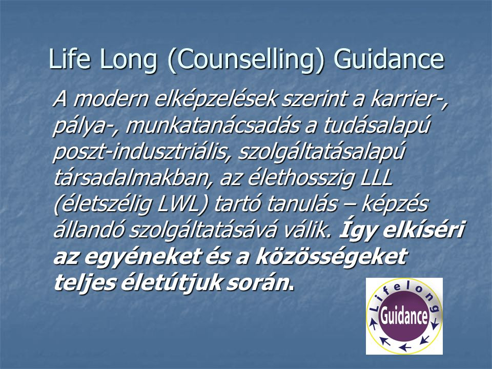 Life Long (Counselling) Guidance