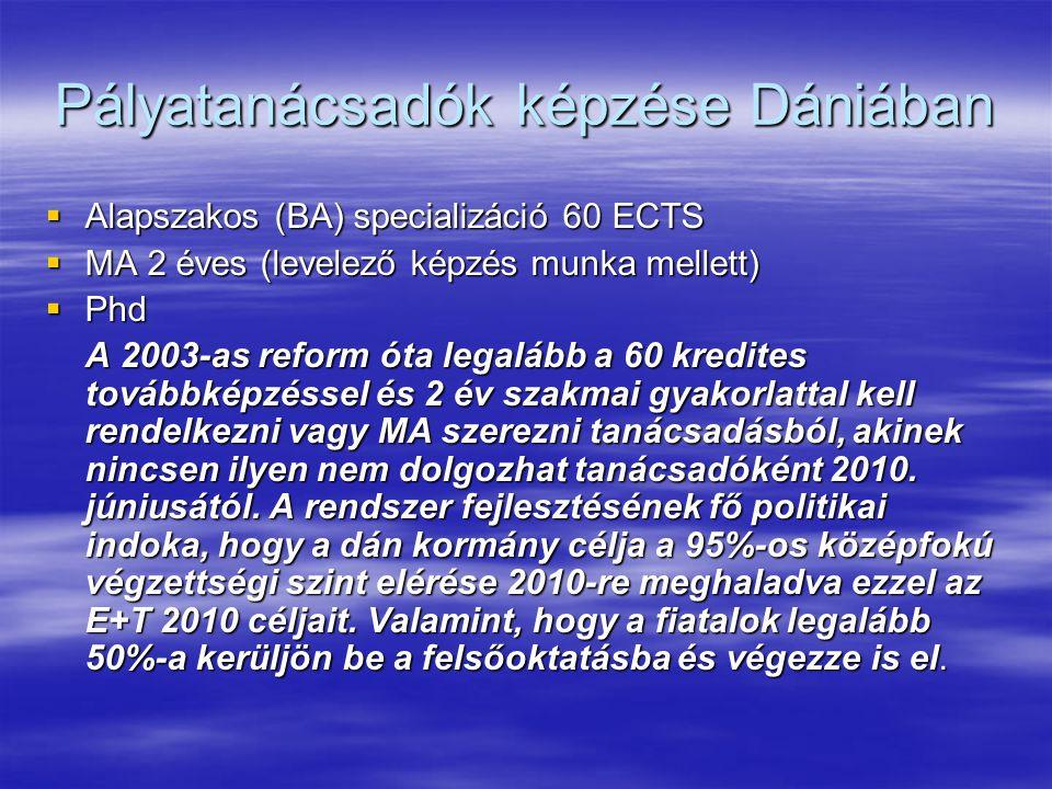Pályatanácsadók képzése Dániában