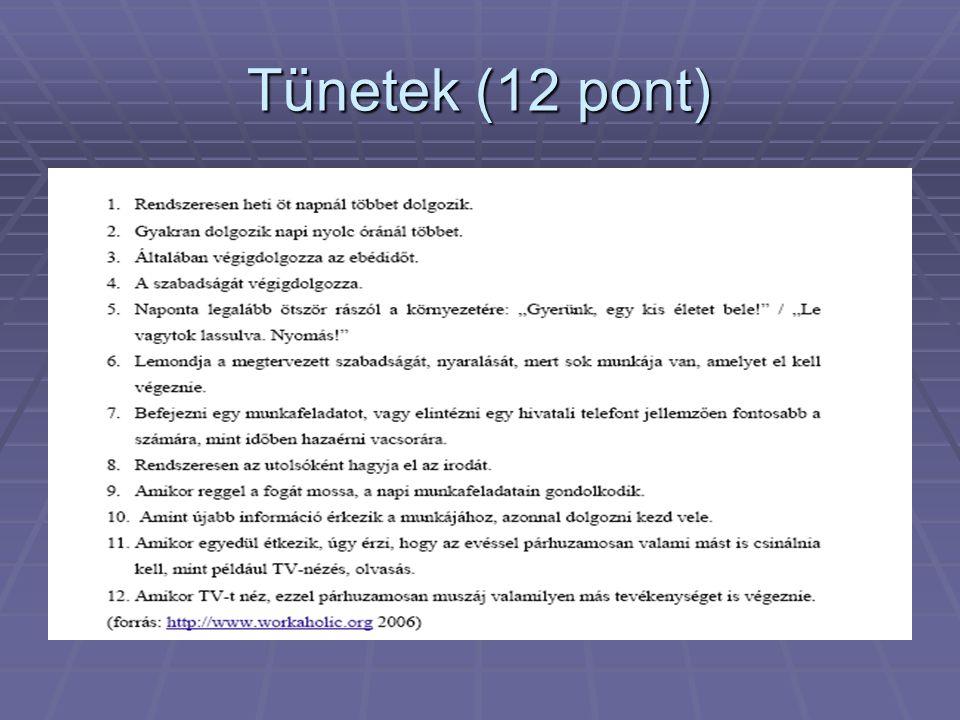 Tünetek (12 pont)