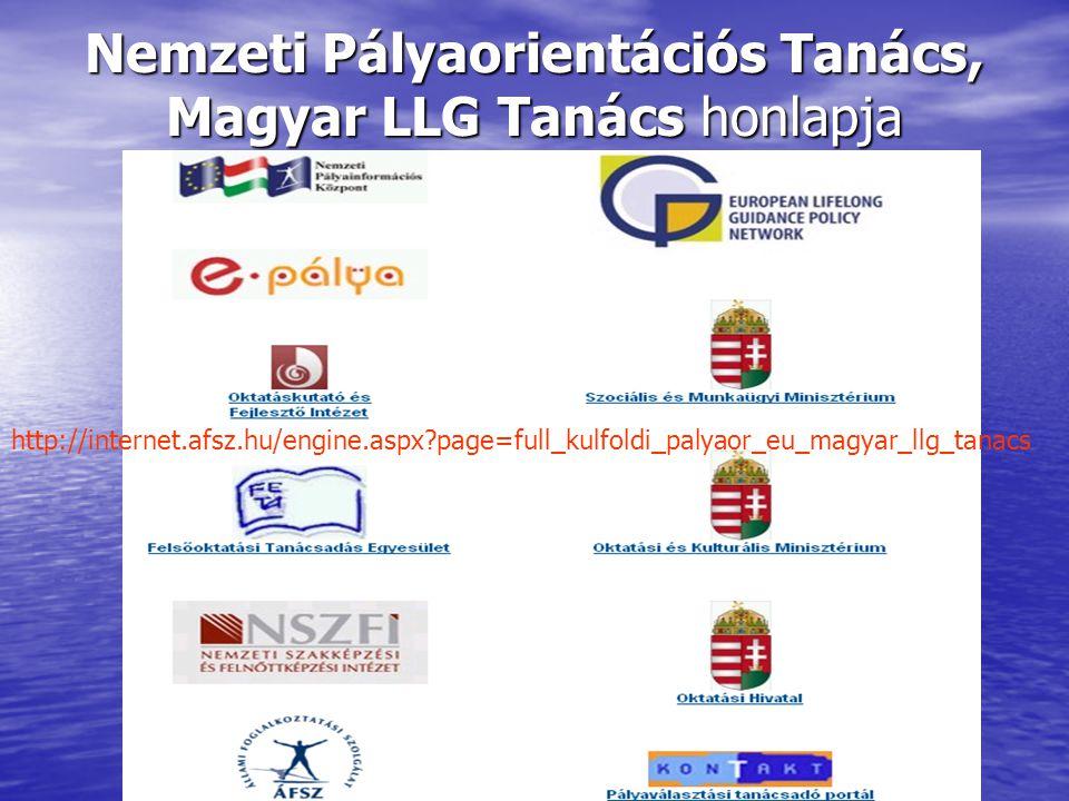 Nemzeti Pályaorientációs Tanács, Magyar LLG Tanács honlapja