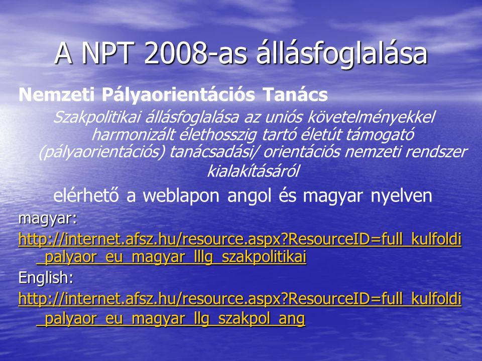 A NPT 2008-as állásfoglalása