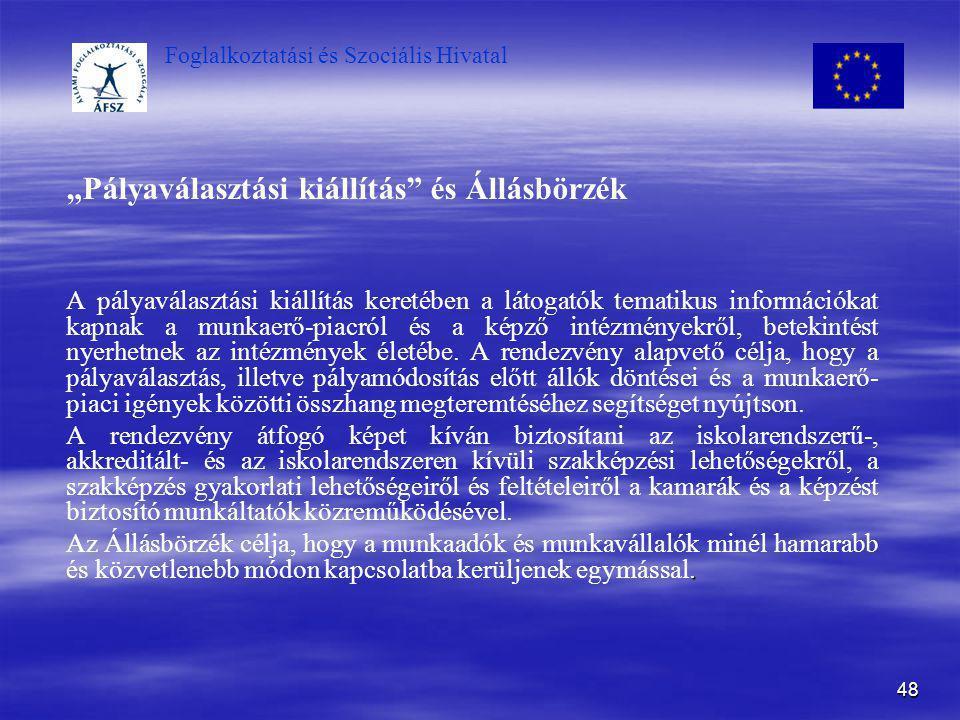 """""""Pályaválasztási kiállítás és Állásbörzék"""