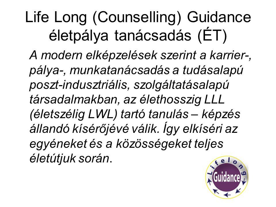 Life Long (Counselling) Guidance életpálya tanácsadás (ÉT)