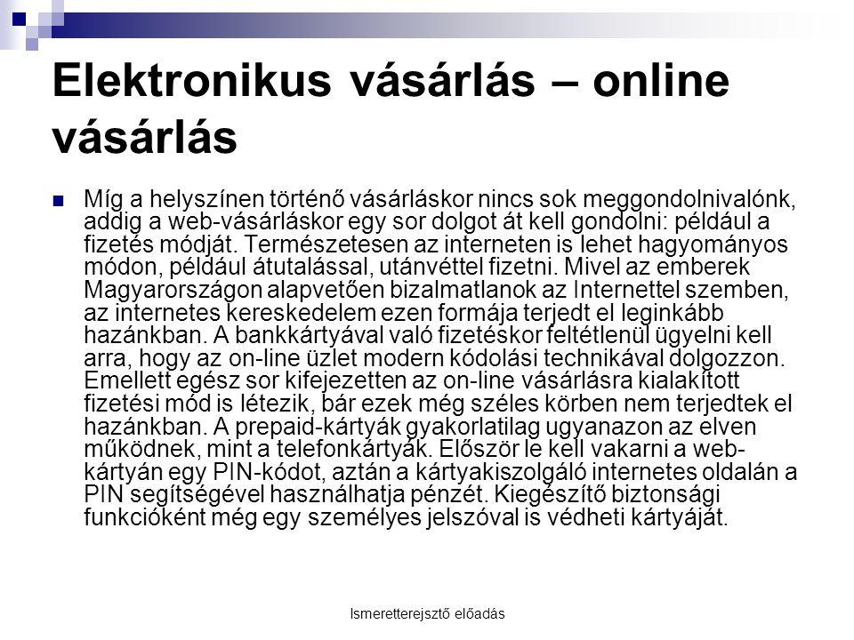 Elektronikus vásárlás – online vásárlás