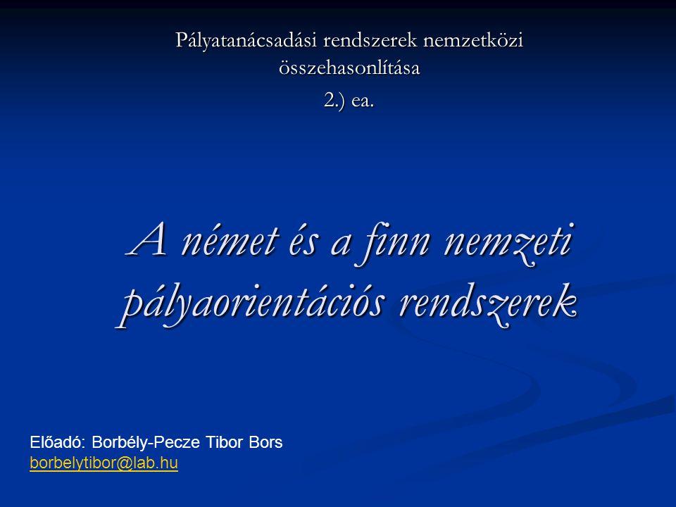 A német és a finn nemzeti pályaorientációs rendszerek
