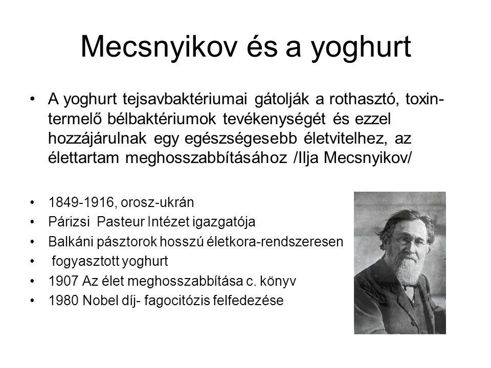 Mecsnyikov és a yoghurt