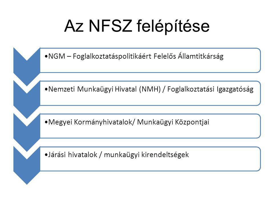 Az NFSZ felépítése NGM – Foglalkoztatáspolitikáért Felelős Államtitkárság. Nemzeti Munkaügyi Hivatal (NMH) / Foglalkoztatási Igazgatóság.