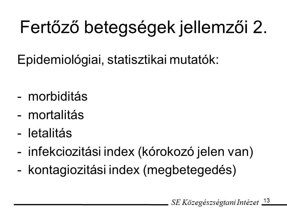 Fertőző betegségek jellemzői 2.