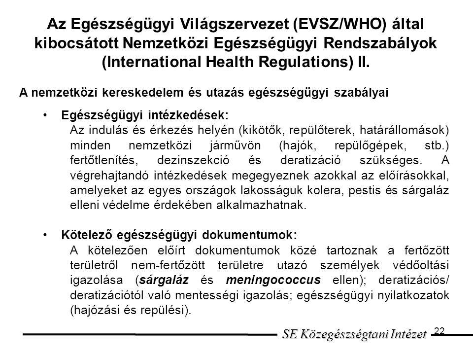 SE Közegészségtani Intézet