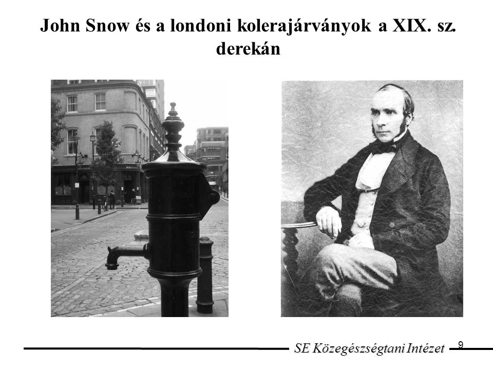 John Snow és a londoni kolerajárványok a XIX. sz. derekán