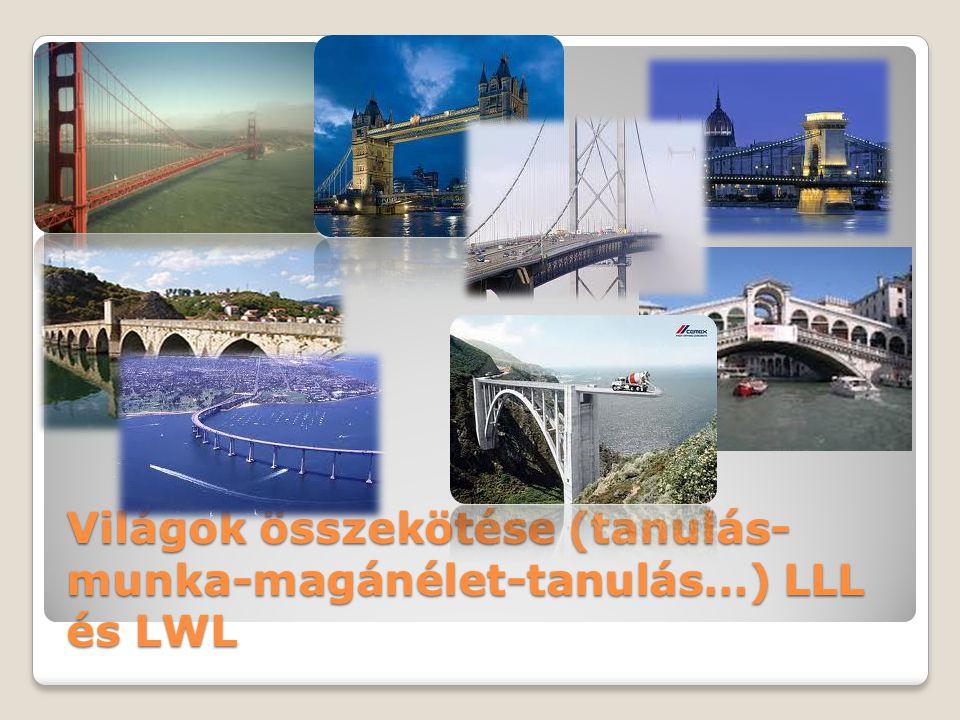 Világok összekötése (tanulás-munka-magánélet-tanulás…) LLL és LWL