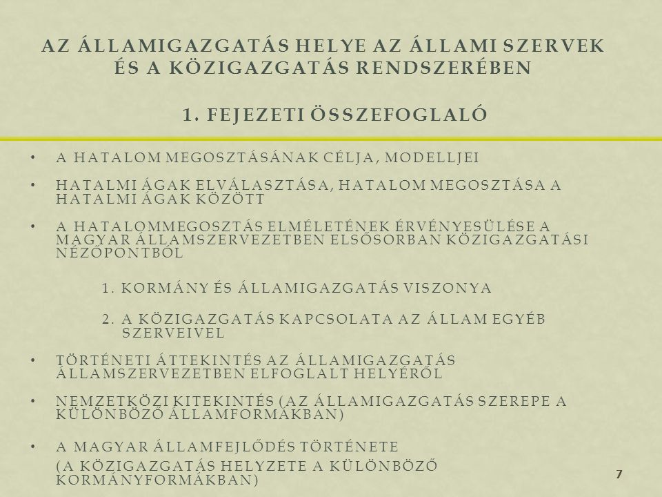 1. fejezeti összefoglaló