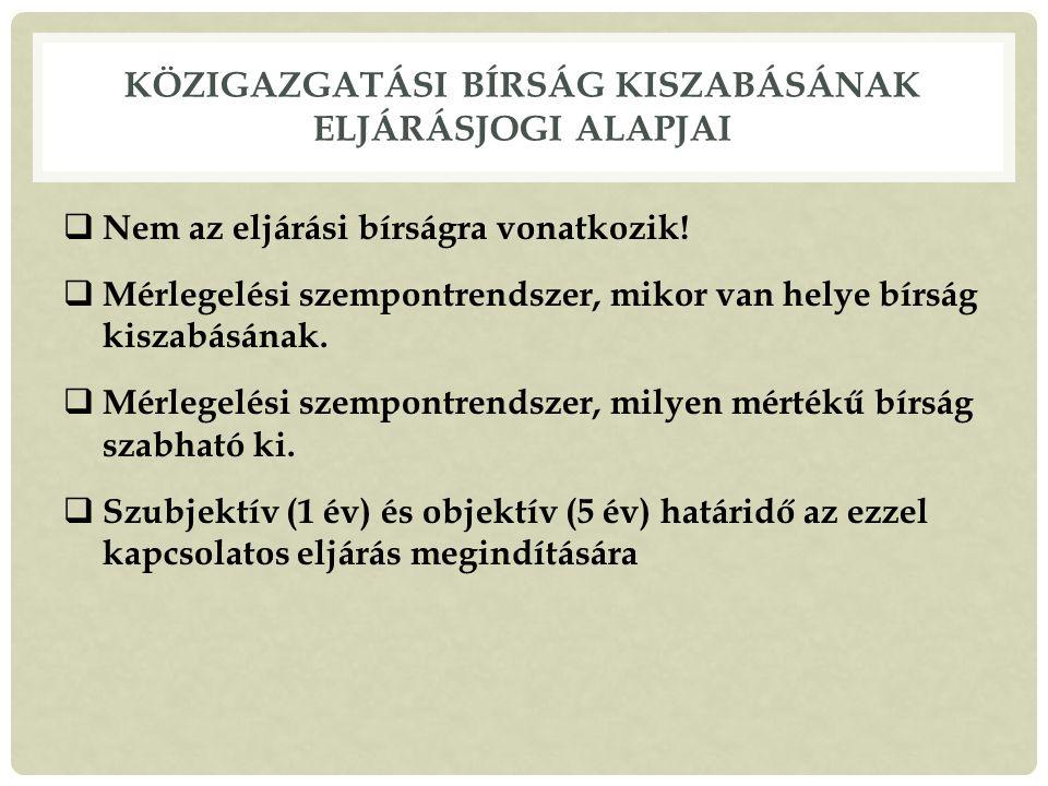 Közigazgatási bírság kiszabásának eljárásjogi alapjai