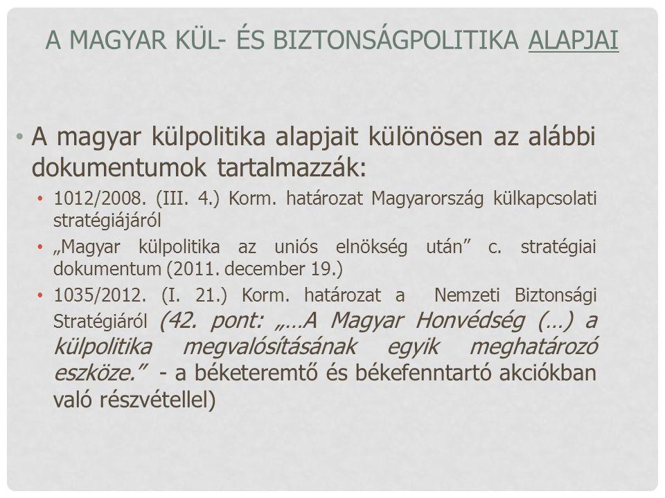 A magyar kül- és biztonságpolitika alapjai