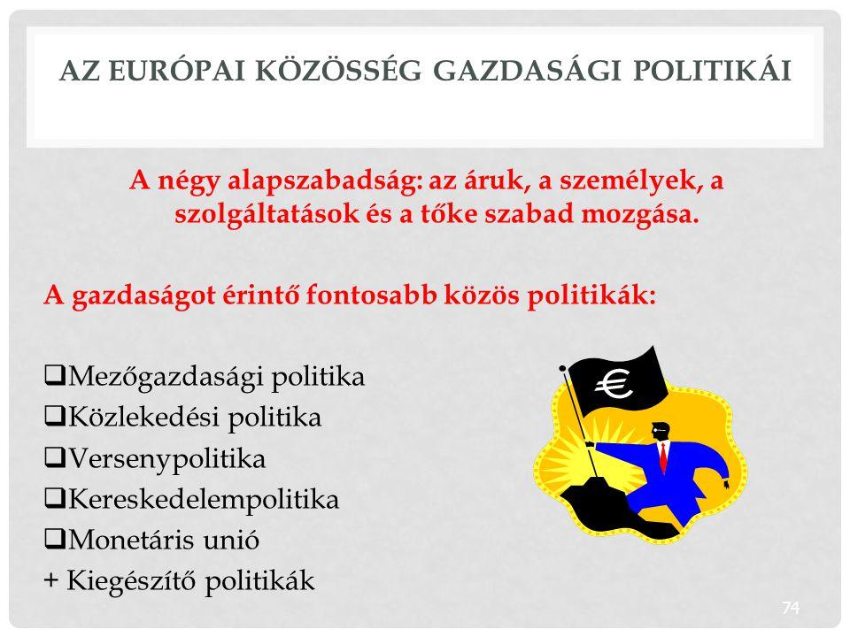 Az Európai Közösség gazdasági politikái