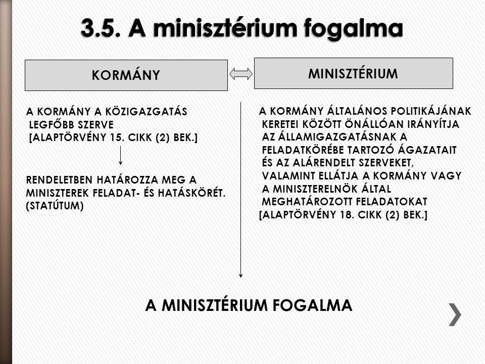 3.5. A minisztérium fogalma