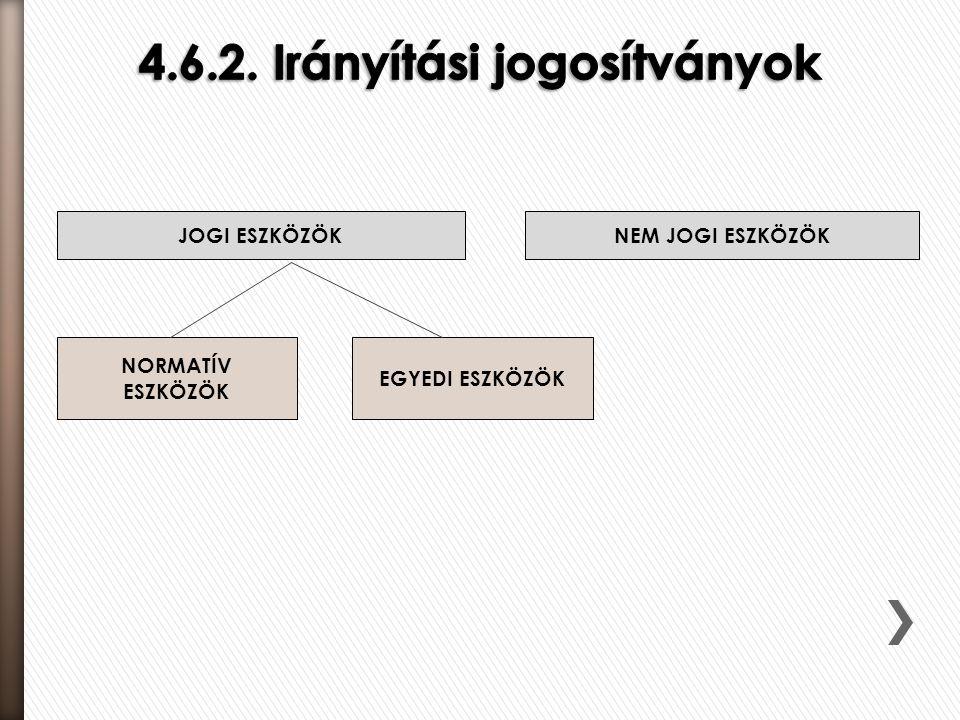 4.6.2. Irányítási jogosítványok