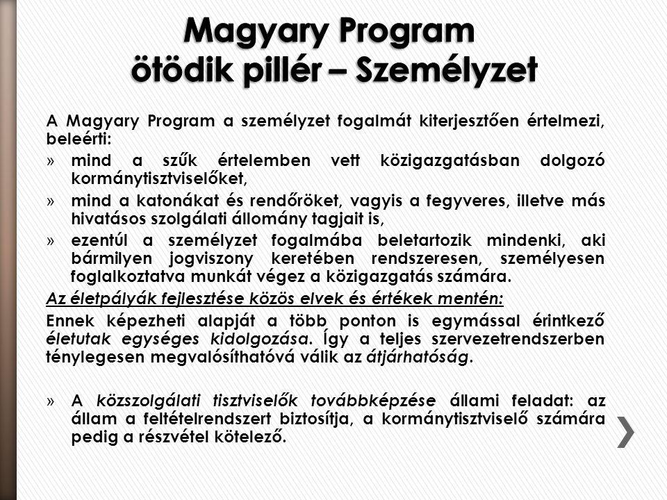 Magyary Program ötödik pillér – Személyzet