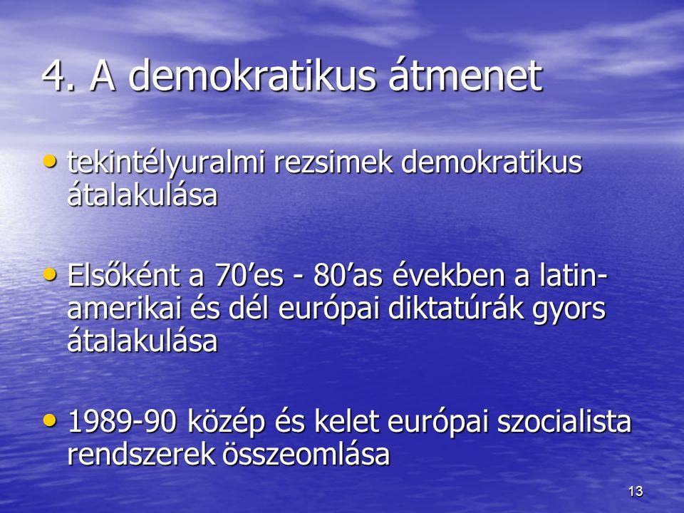 4. A demokratikus átmenet
