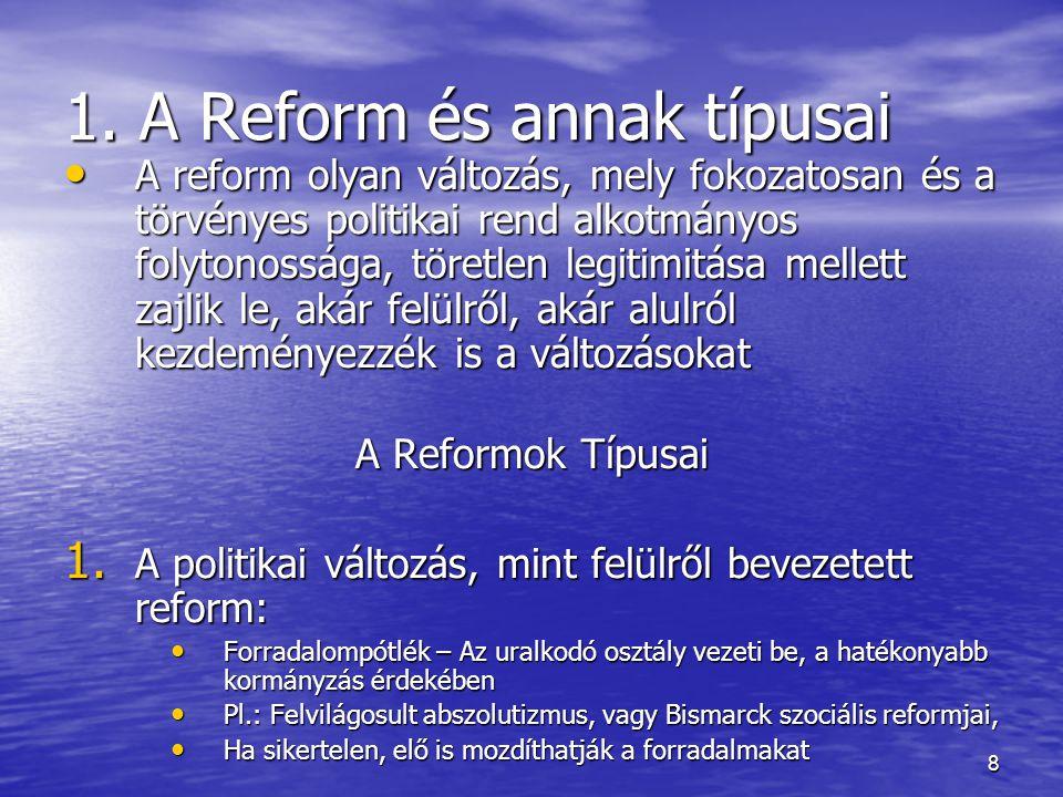 1. A Reform és annak típusai