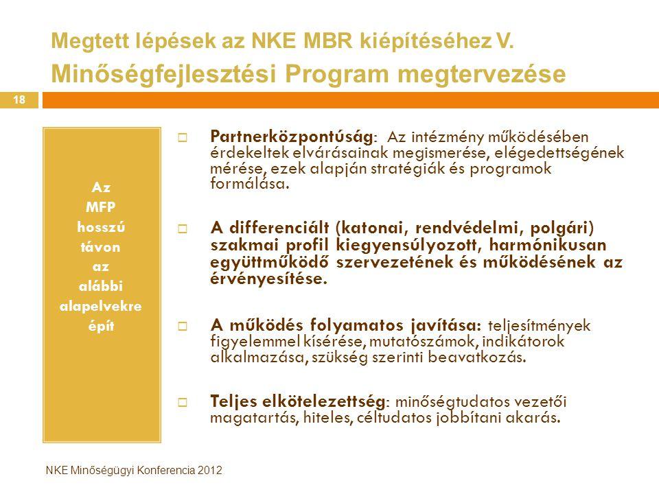 Az MFP hosszú távon az alábbi alapelvekre épít