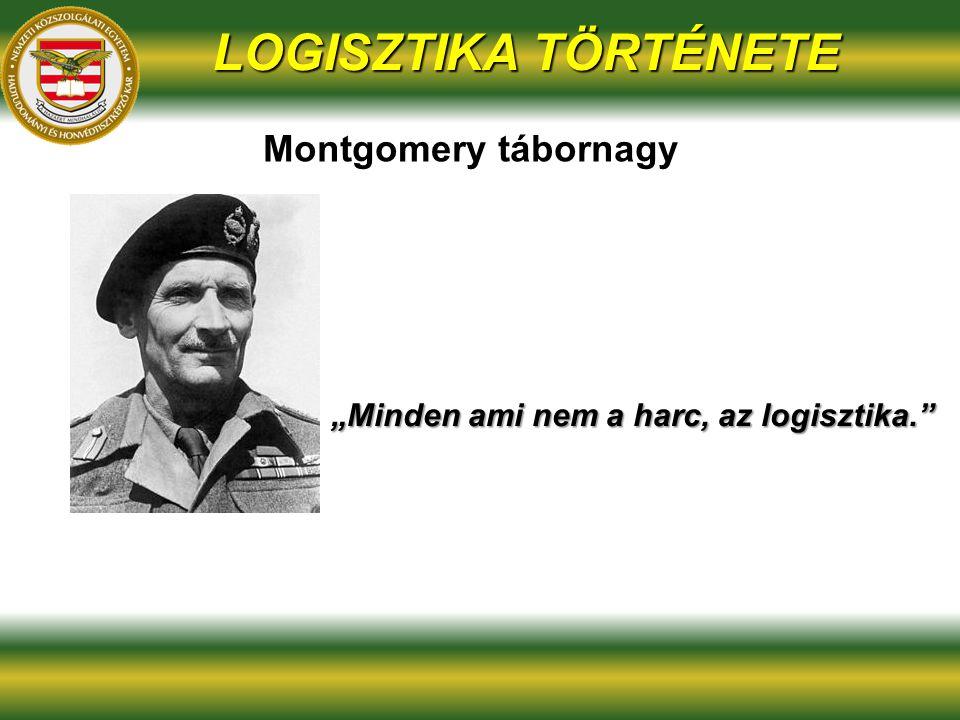 """""""Minden ami nem a harc, az logisztika."""