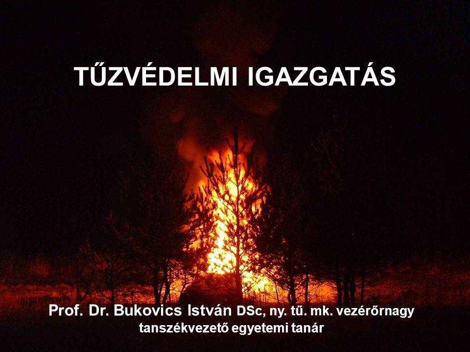 TŰZVÉDELMI IGAZGATÁS Prof. Dr. Bukovics István DSc, ny.