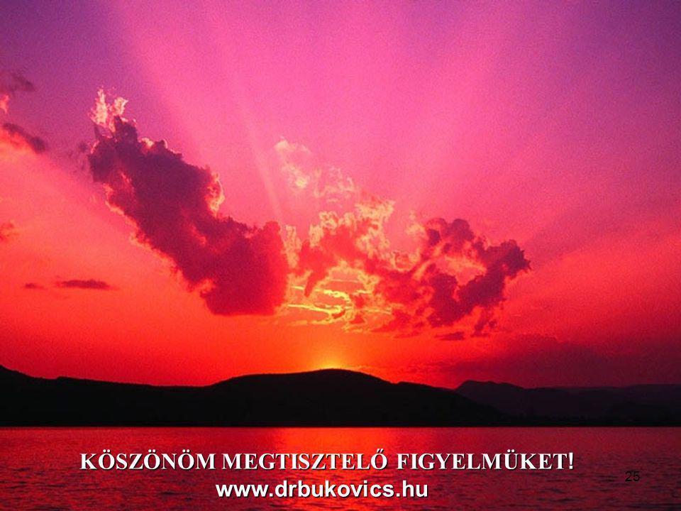 KÖSZÖNÖM MEGTISZTELŐ FIGYELMÜKET! www.drbukovics.hu