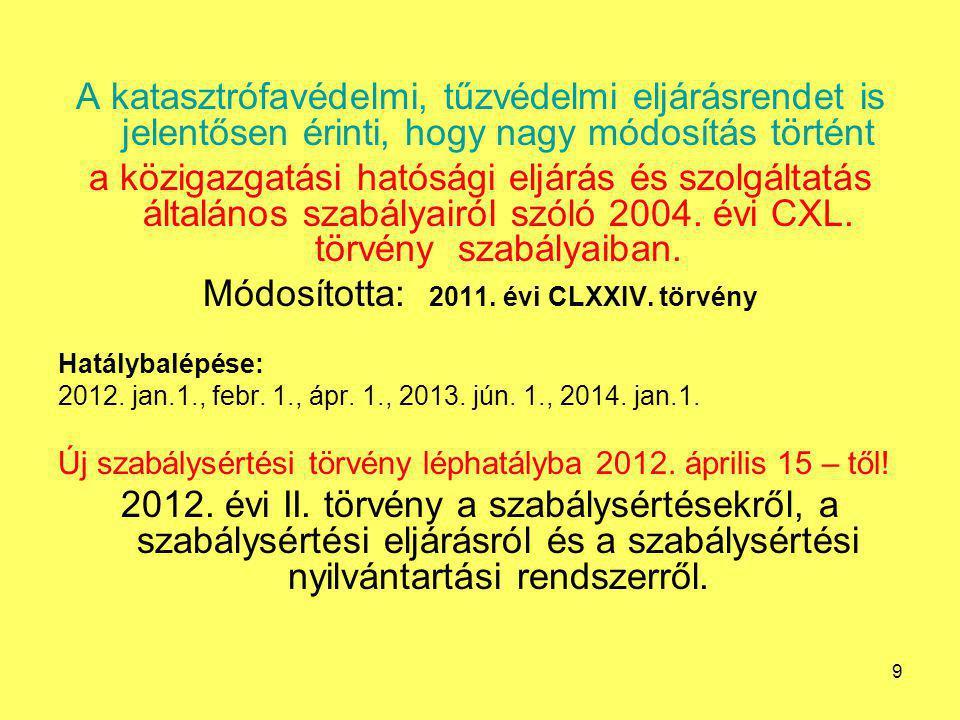 Módosította: 2011. évi CLXXIV. törvény